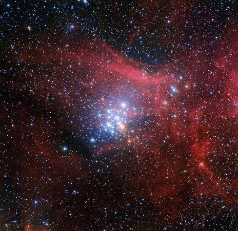 NGC3293, immerso nella sua nebulosa natale. Crediti: ESO/G. Beccari