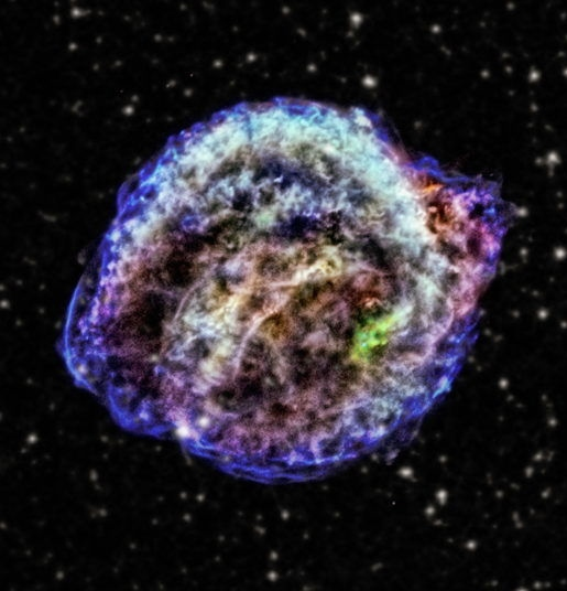 Supernova di Keplero, falsi colori, NASA