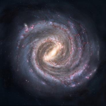 Rappresentazione artistica della Via Lattea