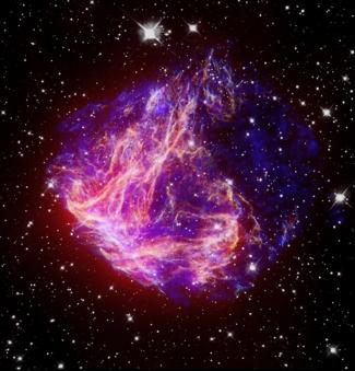 N49, resto di supernova diffuso visibile nella Grande Nube di Magellano. (Wikipedia)