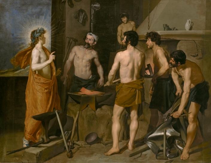 La fucina di Vulcano di Diego Velázquez. Il Prado, Madrid