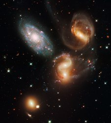 Quintetto di Stephan, telescopio Hubble
