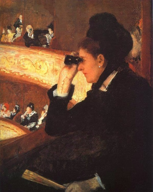 Donna in Nero all'Opéra. M.Cassatt