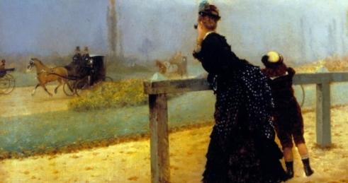 Corse al Bois de Boulogne. Giuseppe De Nittis