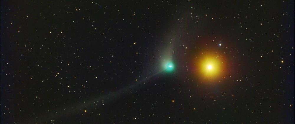Comet Catalina e stella Arturo