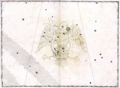 La Lira, sappresentata come un aquila ed uno strumento musicale.