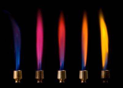 Fiamme di diversi colori dovuti alla presenza di sali appartenenti a elementi diversi